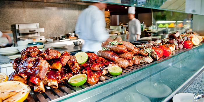 BBQ Grill in Oasis Restaurant in Grand Hyatt Singapore in Orchard, Singapore