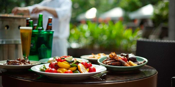 Grilled Vegetables from Oasis Restaurant in Grand Hyatt Singapore in Orchard, Singapore