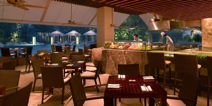 Interior of Oasis Restaurant in Grand Hyatt Singapore in Orchard, Singapore