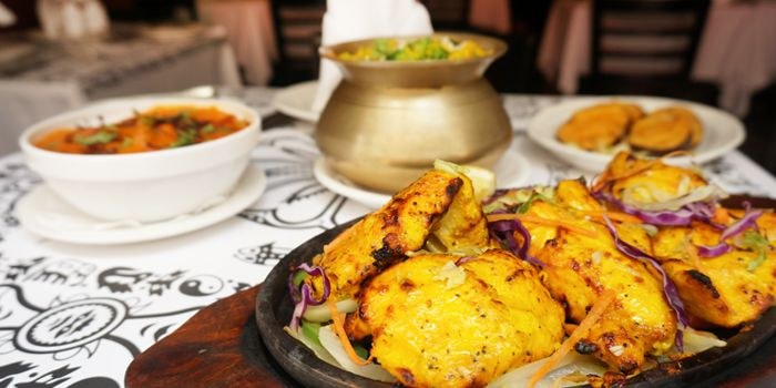 Barbecued Chicken Breast with Cashew Nuts Paste, Saffron & Nepali Spices, Nepal Restaurant & Bar, Soho, Hong Kong