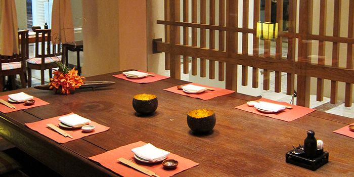 Dining Area of Shintaro at Anantara Siam in Ratchadamri, Bangkok