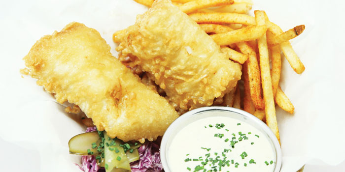 Fish and Chips from Dancing Crab in Orchard, Singapore