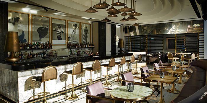 Interior of VOGUE Lounge in Sathorn, Bangkok
