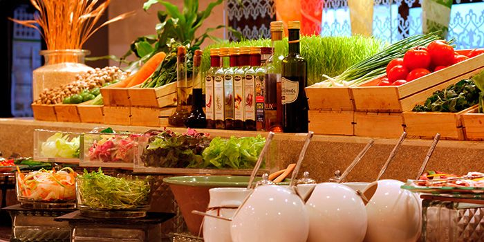 Salad Station at The Pavilion in Dusit Thani Bangkok in Silom, Bangkok