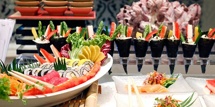 Sushi Spread at The Pavilion in Dusit Thani Bangkok in Silom, Bangkok
