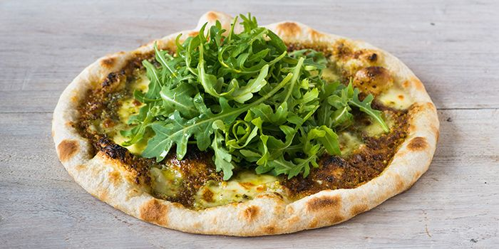 Pistachio Pesto Pizza from Extra Virgin Pizza (Asia Square) in Raffles Place, Singapore