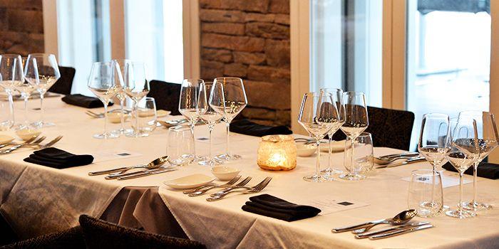 Table Setting of ALBA 1836 Italian Restaurant in Duxton, Singapore