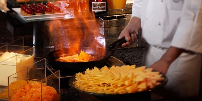 Crepe Live Station of Triple Three Restaurant in Mandarin Orchard Singapore in Orchard, Singapore