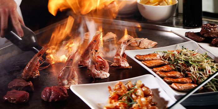 Teppanyaki of Triple Three Restaurant in Mandarin Orchard Singapore in Orchard, Singapore