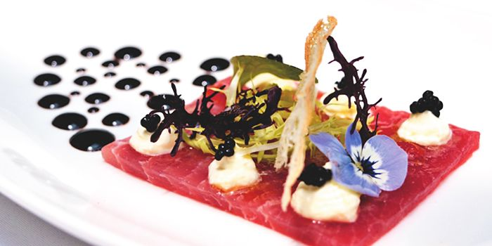 Tuna Carpaccio from ALBA 1836 Italian Restaurant in Duxton, Singapore
