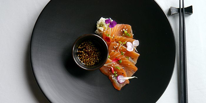 Ginger Cured Salmon Sashimi from Light & Salt on the Bund in Huangpu, Shanghai