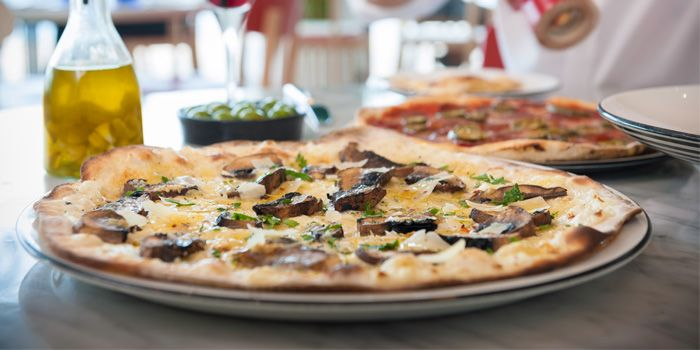 Pizza from PizzaExpress (Bailian Youyichen) in Yangpu, Shanghai