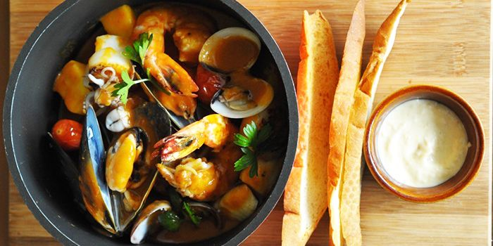 Bouillabaisse from Privé Grill at Marina at Keppel Bay, Singapore
