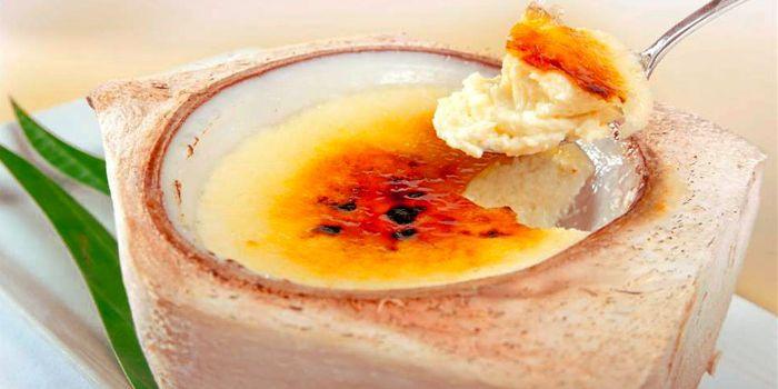 Custard In Coconut from Sheraton Grande Hotel, on Sukhumvit Road