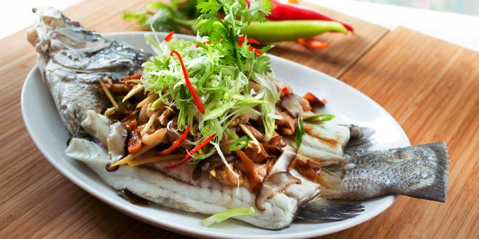 Fish from Sheraton Grande Hotel, on Sukhumvit Road