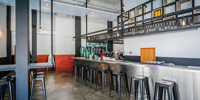 Interior of 1 Tyrwhitt Bistro Bar in Kallang, Singapore