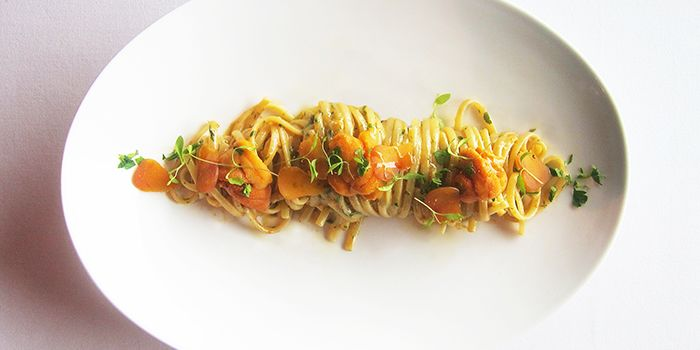 Linguine Aglio e Olio from Forlino at One Fullerton in Raffles Place, Singapore