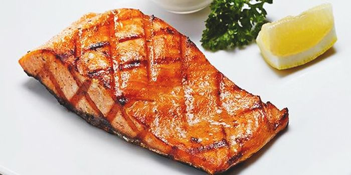 Salmon Steak from The U.S. Steakhouse on Sukhumvit Soi 16