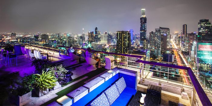 Sathorn Avenue View from The Roof @38th Bar at  Mode Sathorn Hotel on North Sathorn Road