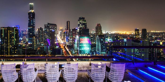 Sitting Area from The Roof @38th Bar at  Mode Sathorn Hotel on North Sathorn Road