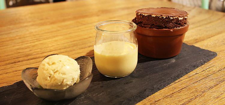 Dark Chocolate Souffle from Laurent