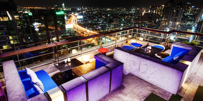 360 View from The Roof @38th Bar at  Mode Sathorn Hotel on North Sathorn Road
