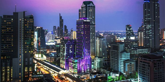 View from The Roof @38th Bar at  Mode Sathorn Hotel on North Sathorn Road
