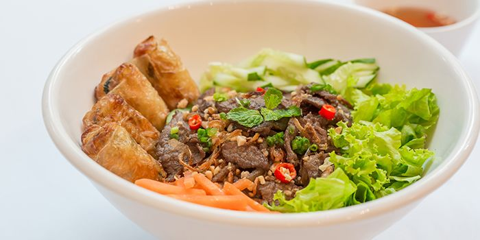 Beef and Fried Spring Rolls Vermicelli from L