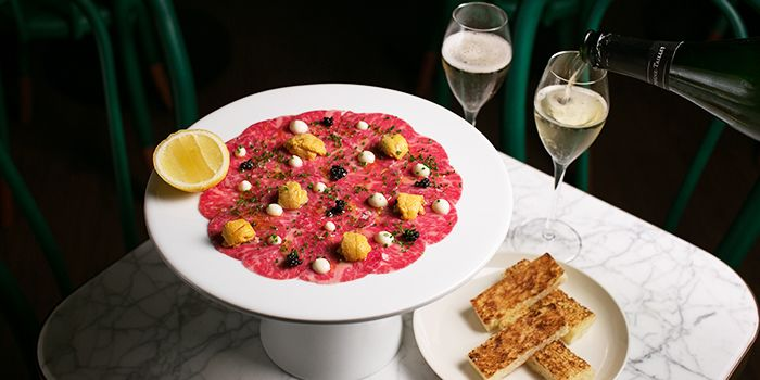 Carpaccio from Gibson in Chinatown, Singapore