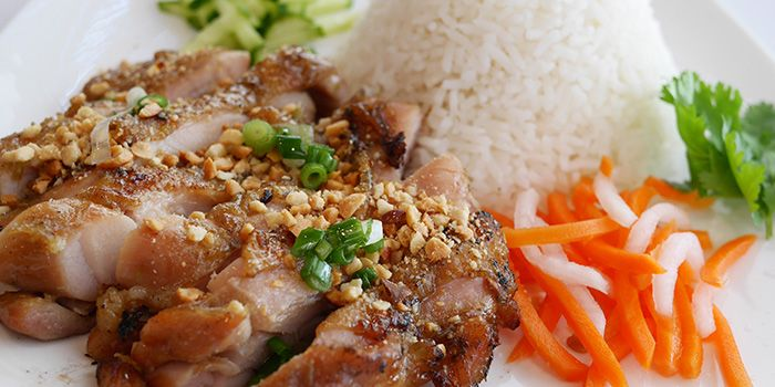 Grilled Chicken Thigh with Rice from L