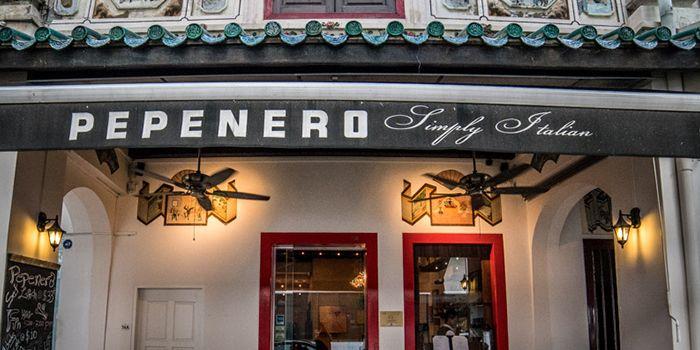 Exterior of Pepenero in Raffles Place, Singapore