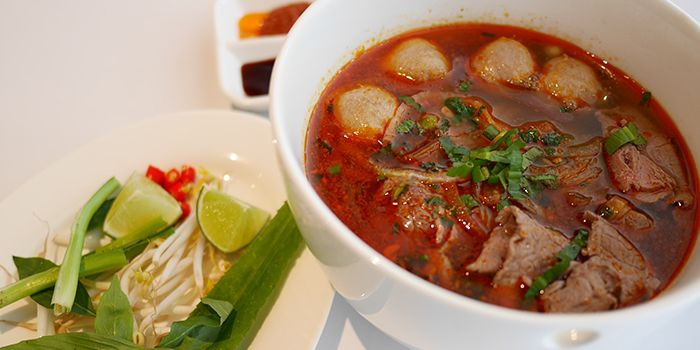 Vietnamese Satay Beef Noodles from L
