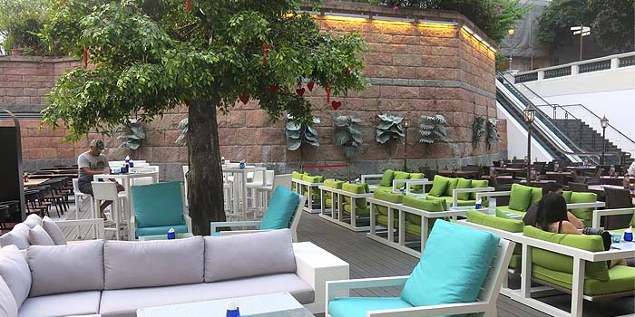 Outdoor of The Berlin Bar & Restaurant in CHIJMES at City Hall, Singapore