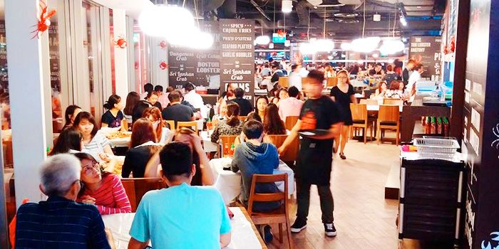 Interior of Dancing Crab at VivoCity in Habourfront, Singapore