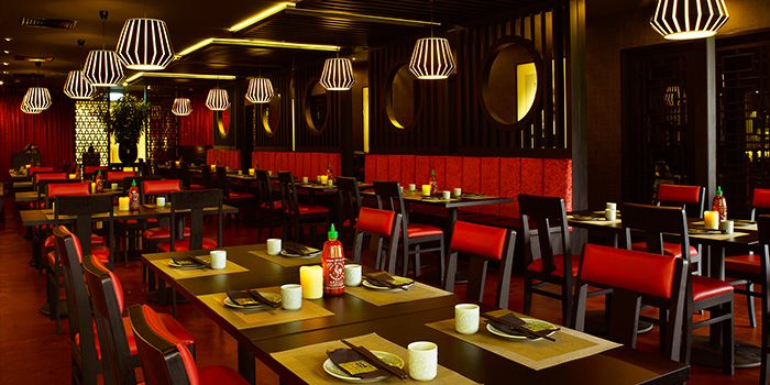 Dining Area of Lokkee in Dhoby Ghaut, Singapore