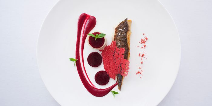 Mediterranean Grouper with Beetroot, Grissini, Wan Chai, Hong Kong