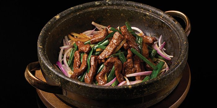 Mongolian Beef from Lokkee in Dhoby Ghaut, Singapore