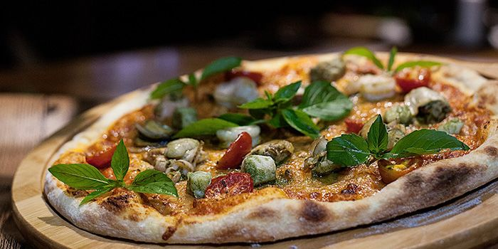 Seafood Margarita Pizza  from Erman