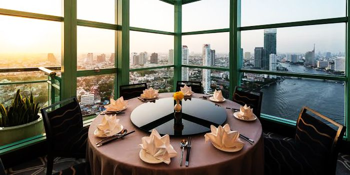 Dining Table from Silver Waves at Chatrium Hotel Riverside, Bangkok