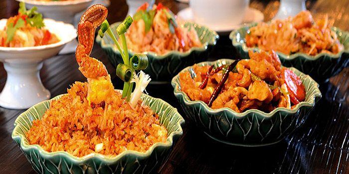 Food Spread from Erawan Tea Room Restaurant at Grand Hyatt Erawan, Bangkok