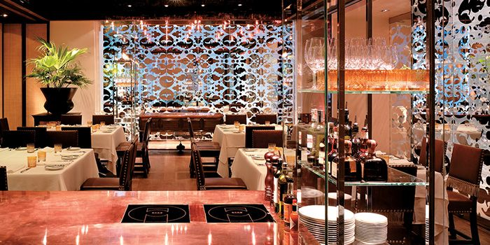 Interior of Tables Grill Restaurant at Grand Hyatt Erawan, Bangkok