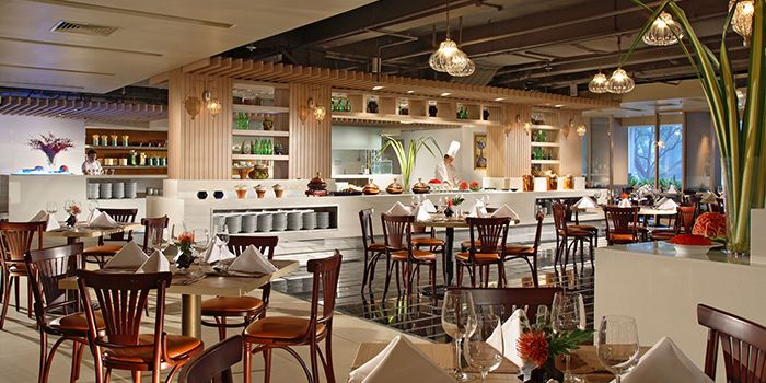 Interior of Spice Brasserie in Little India, Singapore