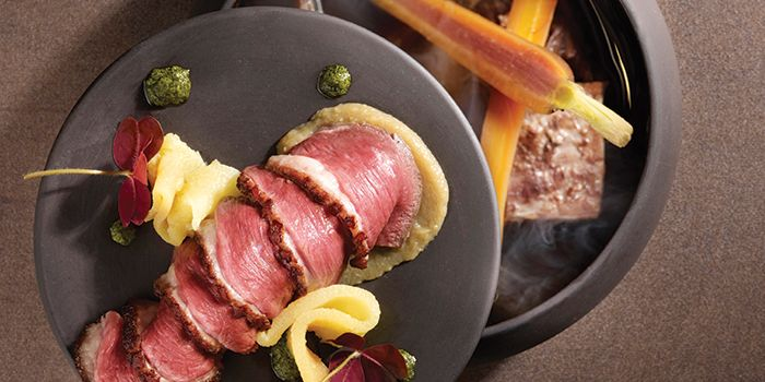 Magret Duck Breast, Quince, Autumn Pot Au Feu from Stellar at 1-Altitude at Raffles Place, Singapore