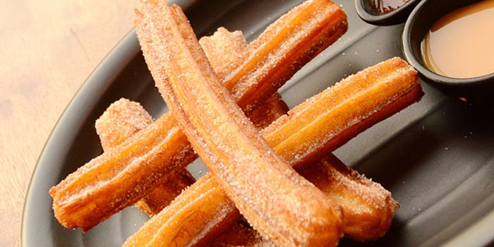 Churros Con Chocolate Salsa from El Luchador (Xintiandi) in Huangpu, Shanghai