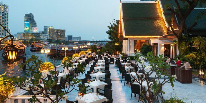 Dining area from Terrace Rim Naam at Mandarin Oriental, Bangkok