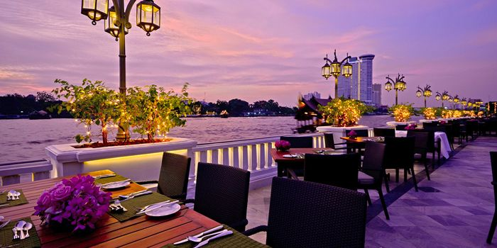 Dining Area from Riverside Terrace at Mandarin Oriental, Bangkok