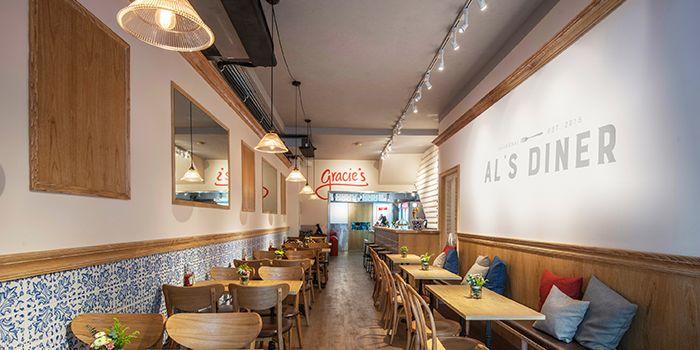 Interior of Al's Diner in Xuhui, Shanghai