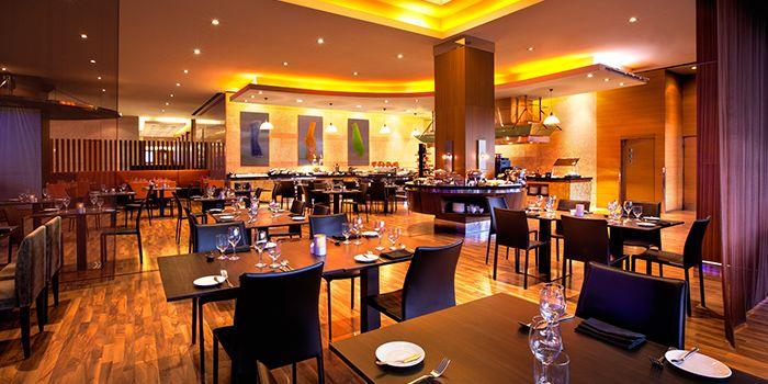 Interior of The Square Restaurant in Novotel Singapore Clarke Quay, in Clarke Quay, Singapore