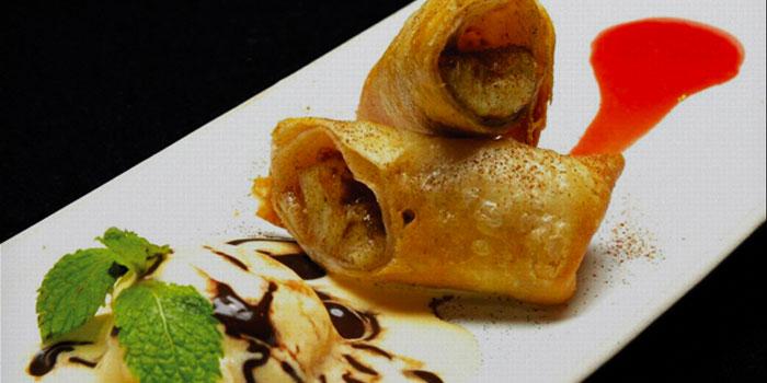 Bananas Foster Chimichangas from The Mexican - Cantina and Comedor at Rajah Hotel Complex Suhumvit Soi 2, Bangkok