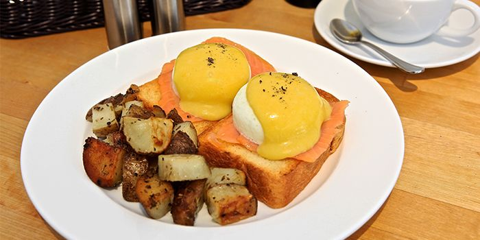 Eggs Benedict from The Fabulous Baker Boy in Clarke Quay, Singapore